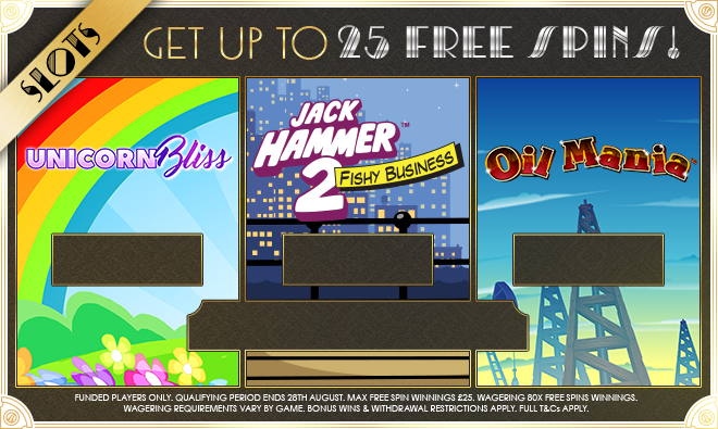Get Up To 25 Free Spins